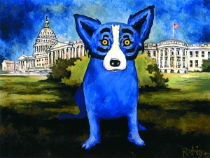 Blue Dog at the Capitol Building