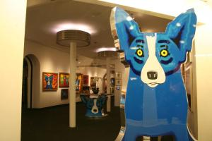 The Blue Dog, in Rodrigue's Gallery